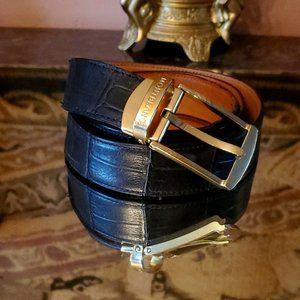 Stunning Classic Alligator Leather Belt Montblanc